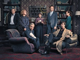The cast of 'Sherlock' season 4.