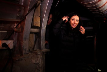 """Culture and Sports Minister Miri Regev visits the """"Pilgrims Way"""", a 2,000-year-old route which is currently being excavated in the City of David on December 27, 2016."""