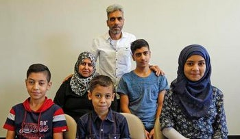 Newly arrived Syrian family in San Diego, photographed on August 31, 2016.