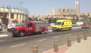 The Haian ambulance in Jerusalem this week.
