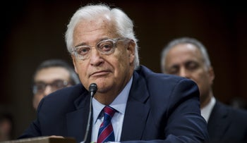 David Friedman, U.S. Ambassador to Israel  listens during a Senate Foreign Relations Committee confirmation hearing in Washington, D.C., U.S., on Thursday, Feb. 16, 2017.