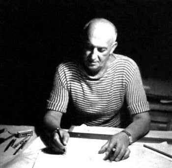 Israeli architect Sam Barkai during the 1960s.