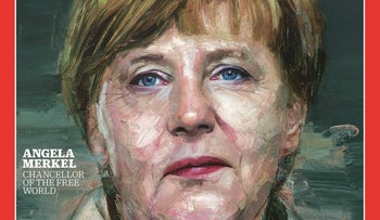 German Chancellor Angela Merkel is featured as Time's Person of the Year, December 9, 2015.