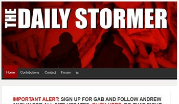 Daily Stormer Homepage Screenshot