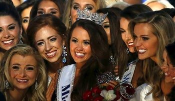 Miss North Dakota Cara Mund waves to crowd after being named Miss America during the Miss America 2018 pageant, Sunday, Sept. 10, 2017, in Atlantic City, N.J.