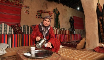 Amal Abu Karen Afawi, who opened a visitors' center for Bedouin culture in the Negev, January 2017.
