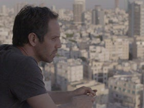 """Yousef Sweid, in a still from """"The Screenwriter."""" You could call it """"Synecdoche, Al Quds."""""""