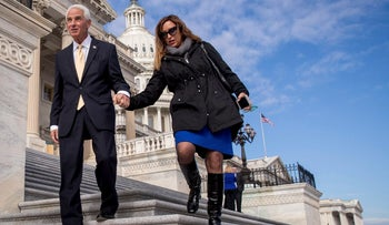 Cong. Charlie Crist on Capitol Hill with his wive, Carole