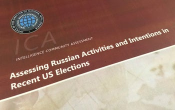 The intelligence report on Russia's efforts to interfere with the U.S. election, Washington, January 6, 2017.