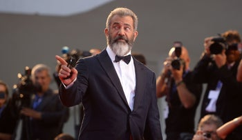 "Mel Gibson arrives for the premiere of ""Hacksaw Ridge"" at the 73rd Venice Film Festival, September 4, 2016."