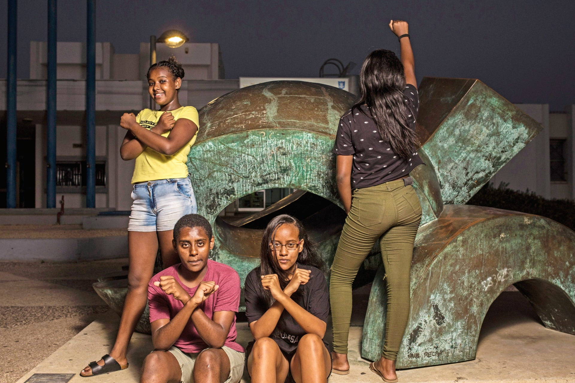 The Lionesses at the Dora community center in Netanya.