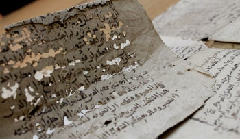 About 100 of the manuscripts probably came from the archive of a Jewish family who lived on the Silk Road.