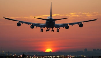A plane landing. Make sure you inform the airline if you're going to be a no-show.