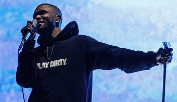 Frank Ocean performs on stage during Day 3 of Pemberton Music and Arts Festival on July 20, 2014 in Pemberton, Canada.