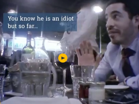Shai Masot being covertly filmed at a London restaurant by a journalist for Al Jazeera