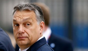 FILE PHOTO: Hungary's Prime Minister Viktor Orban arrives for the NATO Summit in Warsaw, Poland on July 9, 2016.