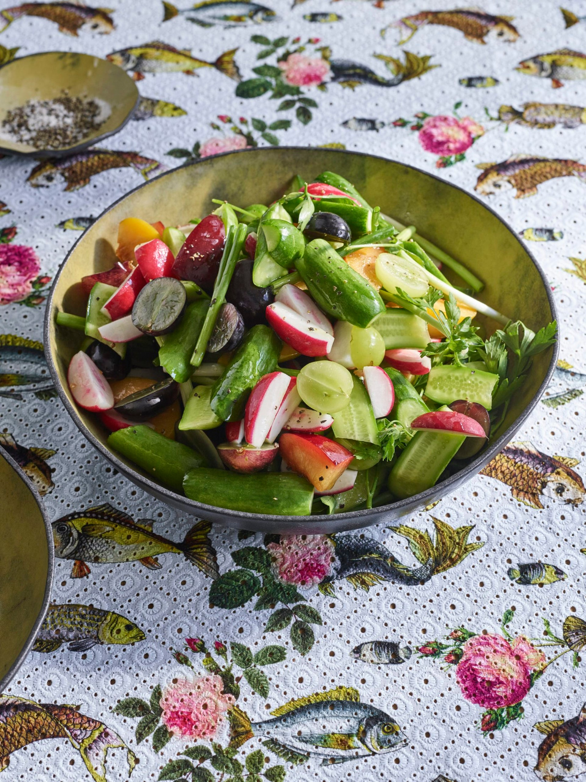 Fruit and vegetable salad.