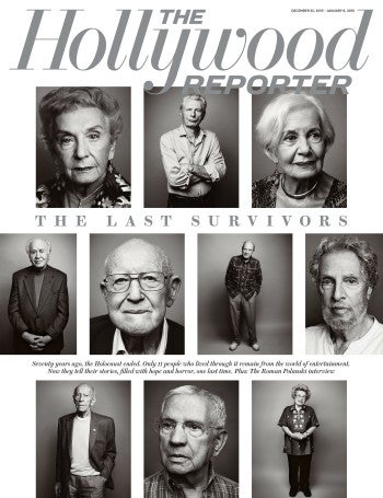 """The Hollywood Reporter's """"The Last Survivors"""" magazine cover, published December 16, 2015."""