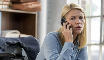 "Actress Claire Daines as Carrie Mathison, in the new, sixth season of ""Homeland."""