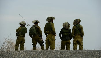 Israel Defense Forces soldiers in the Golan Heights, November 2016.