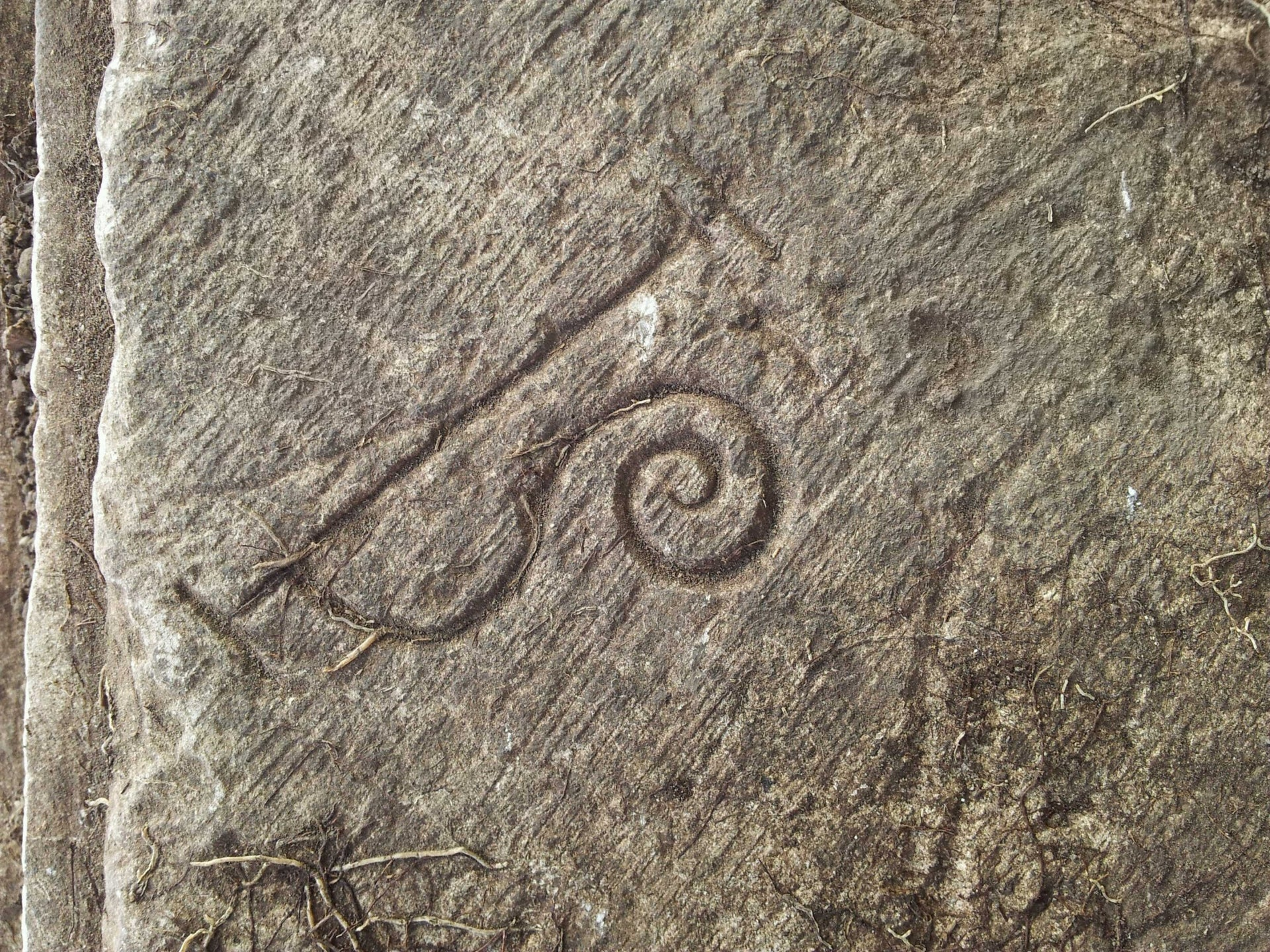 Mason's mark from the stables, Montfort Castle