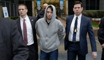 Martin Shkreli, chief executive officer of Turing Pharmaceuticals LLC, exits federal court, New York, U.S., December 17, 2015.
