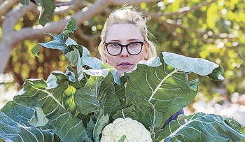 Shai Shevah with the first cauliflower of the season.