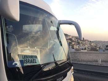 The Politically Incorrect tour bus for its trip around Israel.