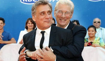 Lior Ashkenazi and Richard Gere arrive for the premiere of the film 'Norman' at the Toronto International Film Festival, September 12, 2016.
