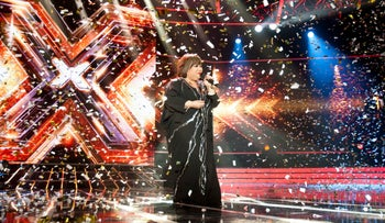 A scene from the Israeli version of the music competition 'X Factor.'