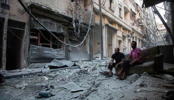 A bombed-out street in Aleppo, Syria, September 18, 2016.