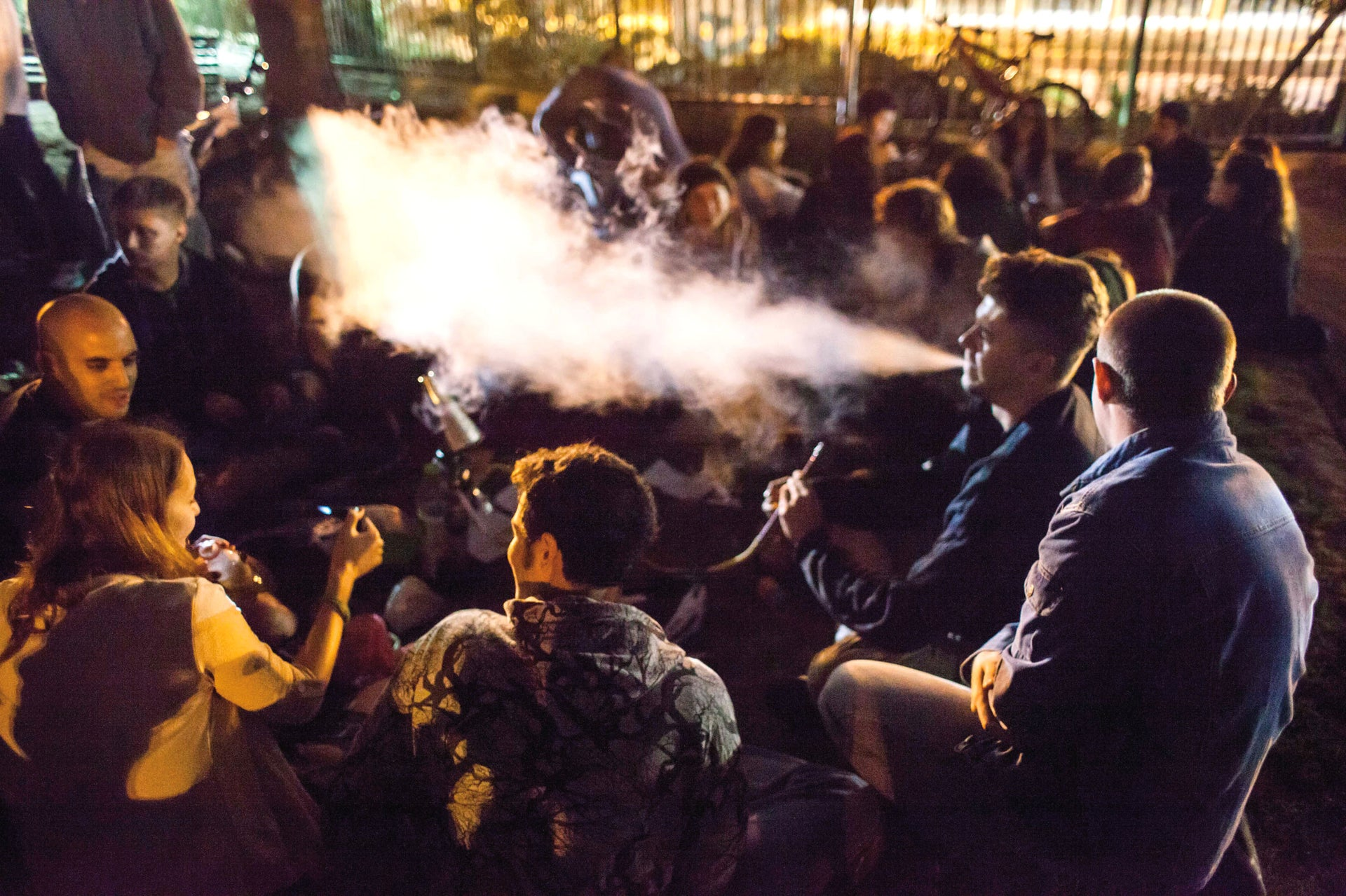 The 'Big Bong Night' held in Jerusalem in 2014.