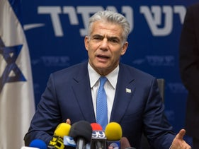 Yesh Atid's Yair Lapid speaks at a party meeting, January 2, 2017.