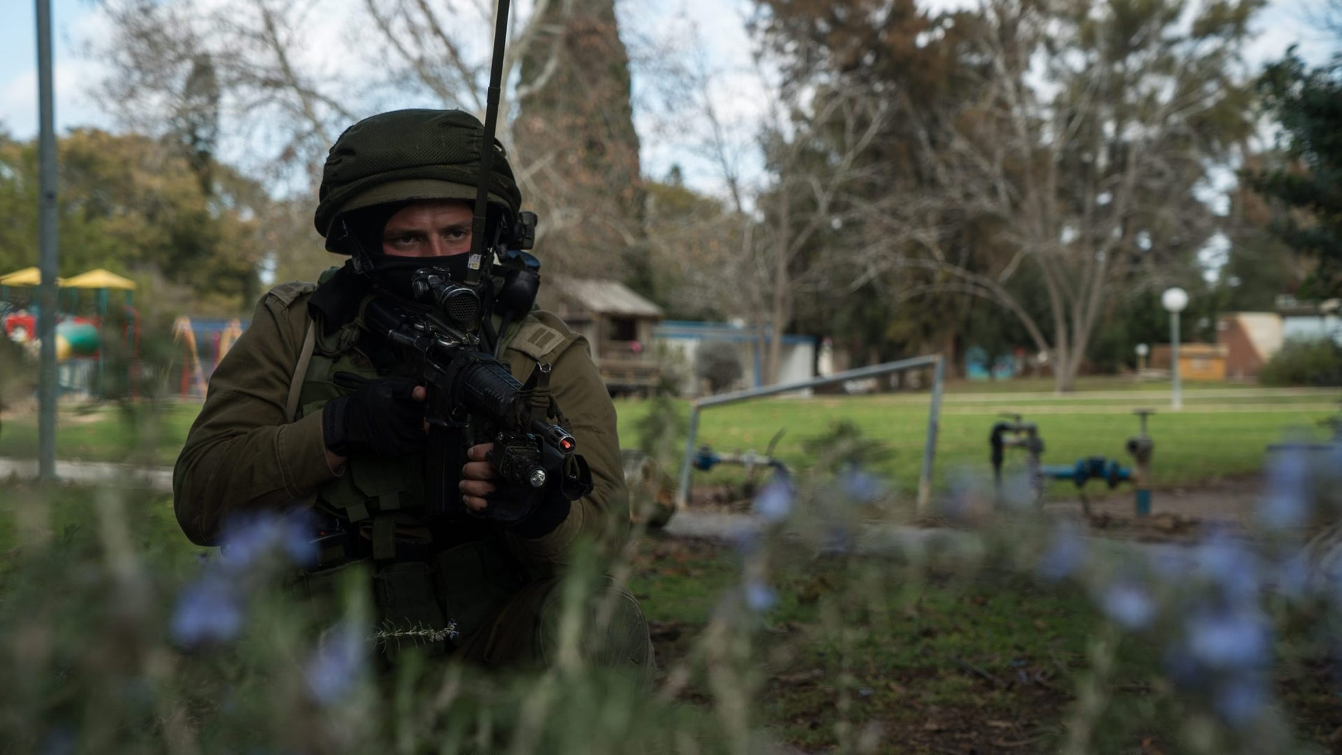 An Israeli soldier during a divisional exercise near the Gaza Strip in February 2017.