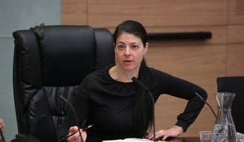 MK Merav Michaeli at a meeting of the Knesset Constitution, Law and Justice Committee, March 2016.