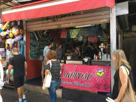 Sabroso, the new Mexican food stand in the Carmel Market in Tel Aviv.