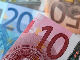 A picture illustration of Euro banknotes.