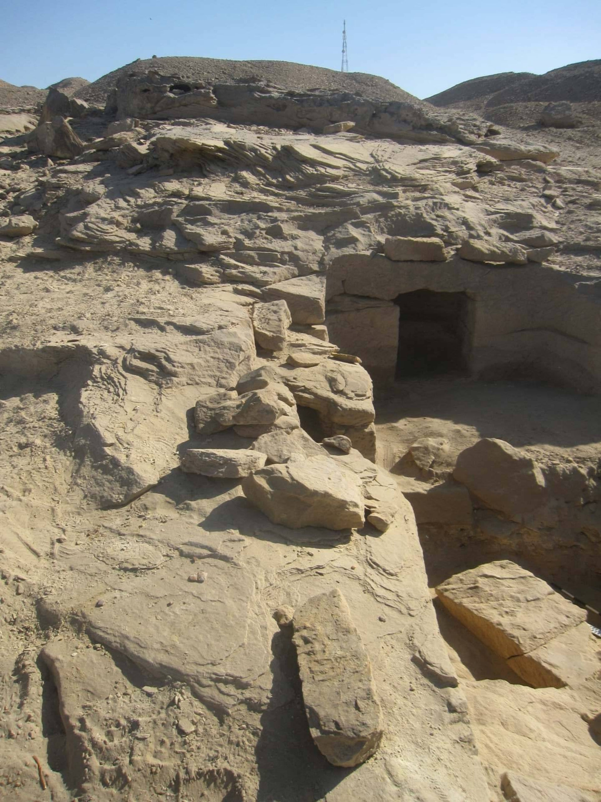 Exterior of a rock-cut tomb, Gebel el-Silsila. Each contained 10-15 individuals