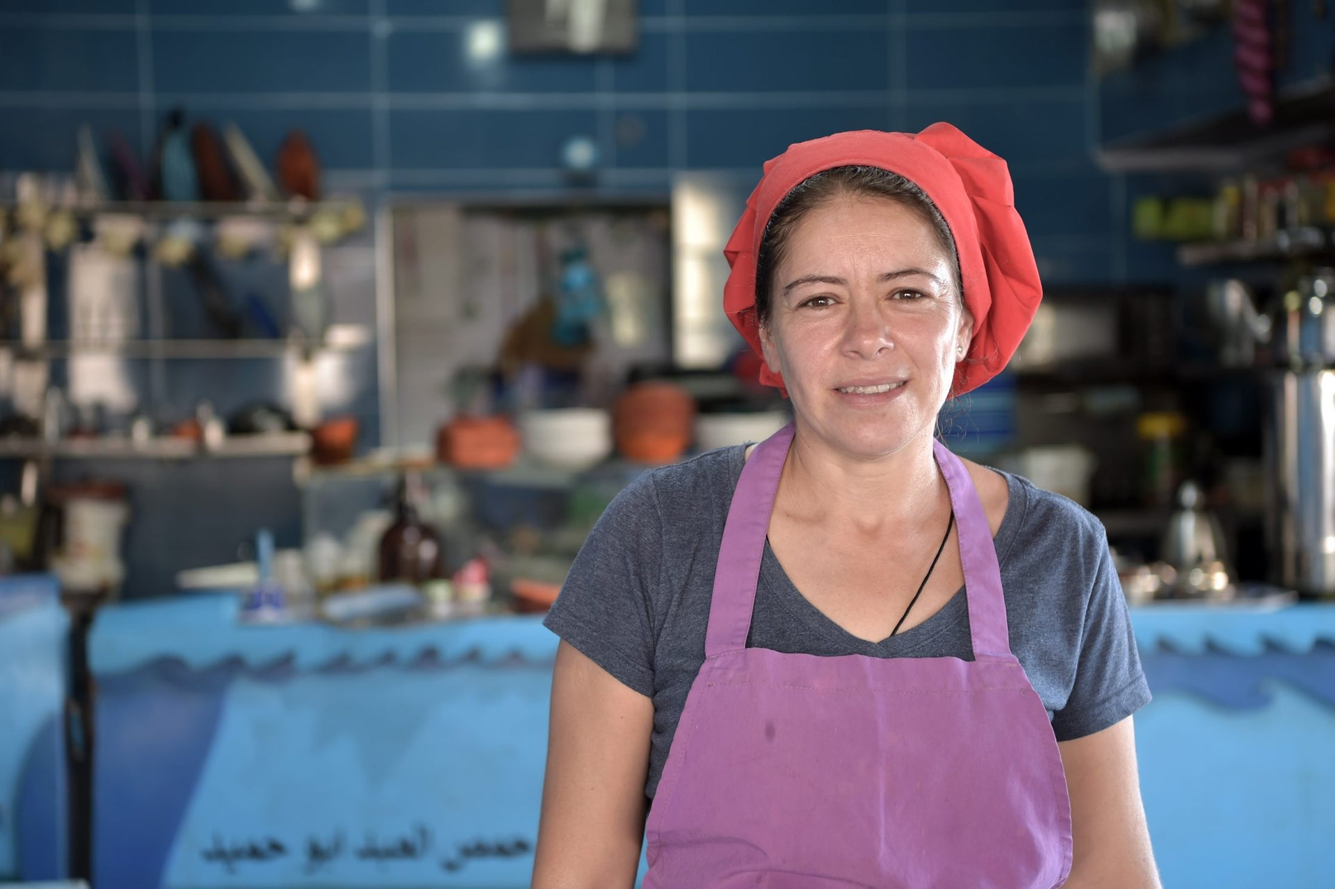 Arin, a restaurant owner in Acre.