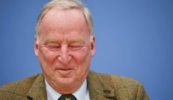 Alexander Gauland, top candidate of the anti-immigration party Alternative fuer Deutschland (AfD) speaks during a news conference in Berlin, Germany, September 25, 2017. REUTERS/Wolfgang Rattay