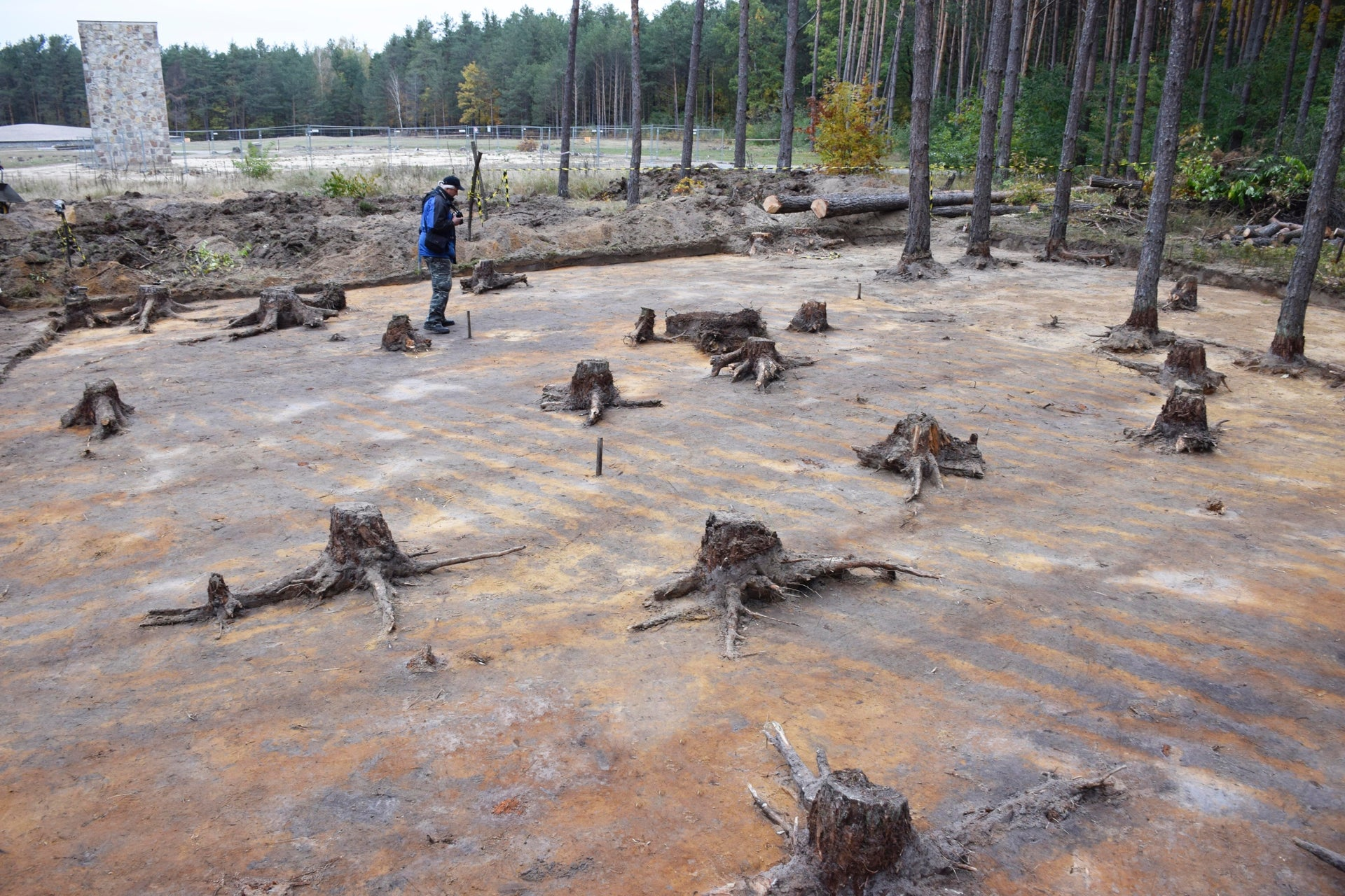 The dig site at the Sobibor death camp in Poland.