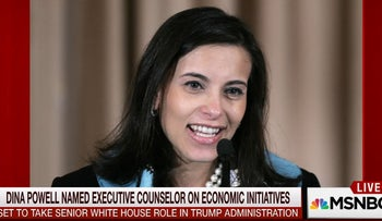 Dina Powell named Executive Counselor on Economic Initiatives