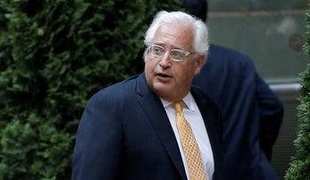 David Friedman arrives at a private fundraiser for then-Republican presidential candidate Donald Trump in the Manhattan borough of New York City, June 21, 2016.
