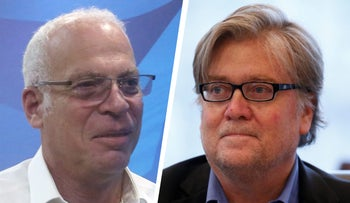 Agriculture Minister Uri Ariel and Donald Trump's chief strategist Stephen Bannon