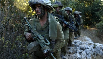 Israeli soldiers in southern Lebanon, during the Second Lebanon War, 2006.