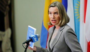 European Union Foreign Affairs Chief Federica Mogherini at UN headquarters in New York, U.S., September 20, 2017.