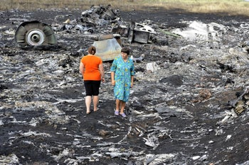 The wreckage of Malaysia Airlines flight 17 IN 2014. 'We haven't seen one group that has accused both the Russians of the Malaysian plane attack and the Syrian opposition of the chemical attacks.'