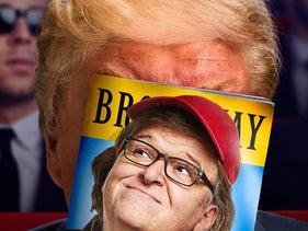 From the home page for the website of Michael Moore's 2017 standup show 'The Terms of My Surrender.'