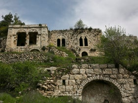 Lifta. One of the few abandoned Palestinian villages to be frozen in time