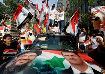 Syrian protesters in Beirut, July 24, 2011